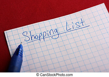 Shoping list - Preparation for a trip to shop begins with...