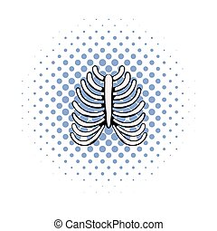 Human rib cage icon, comics style