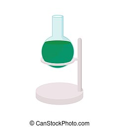 Chemistry test tube in a holder icon