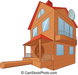 Bird house deluxe 2 - Illustration of the large and...