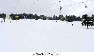 quot;cableway to winter snow sport center, uludag, bursa,...