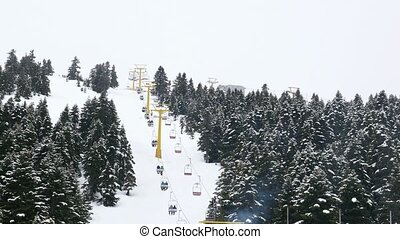 """cableway to winter snow sport center, uludag, bursa,..."