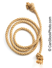 ship rope on white background - ship rope isolated on white...
