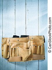 tool belt on wood