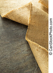 burlap hessian sacking at background texture