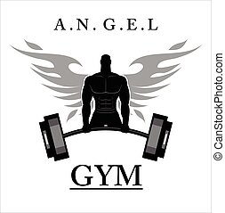 winged bodybuilder.