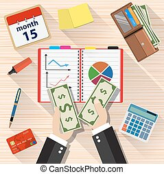 income concept. flat design. vector concept in flat style -...