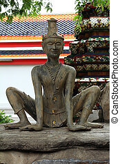 anchorite stone statue at Wat Pho