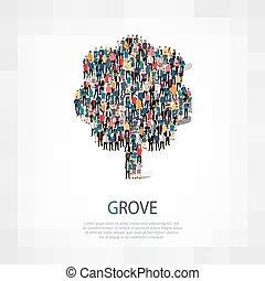 grove people symbol - Isometric set of styles, grove , web...