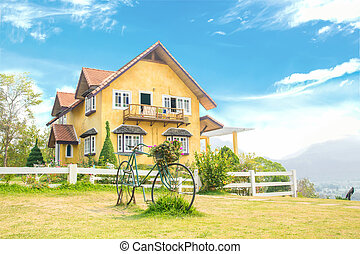Yellow house famous place in Pai, Mae Hong Son, north of...