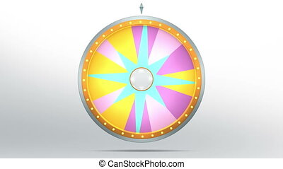 star lucky spin 12 area pink 4K - The wheel of fortune or...