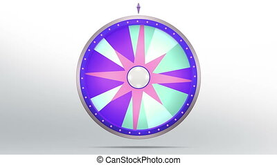 star lucky spin 12 area purple 4K - The wheel of fortune or...