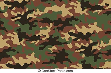 Camouflage texture 2 - Vector illustration of green khaki...