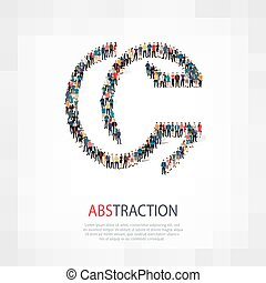POPULARITY L - Isometric set of styles abstract business...