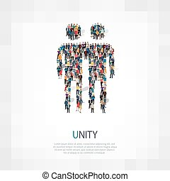 unity people symbol - Isometric set of styles, unity , web...