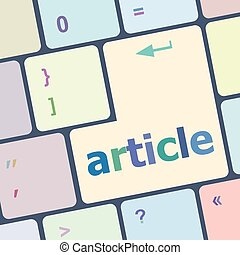 Analysis Concept. Button on Modern Computer Keyboard with Word Analysis on It. vector illustration