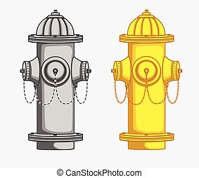 Hydrant Vector Illustration - Various Hydrant Vector...