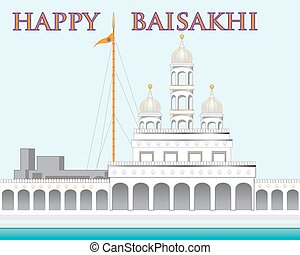 happy baisakhi - a vector illustration in eps 10 format of a...
