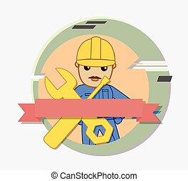 Cartoon Repairman Character