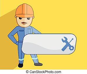 Plumbing Advertisement with Plumber