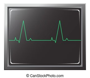 Heart Rate Monitor - A heart rate monitor with 2 blips...