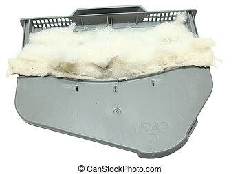 Full Lint Trap Over White - Full Lint Trap Isolated Over...