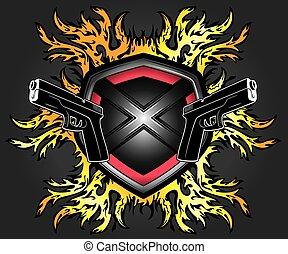 punk cyber shield glock pistols - metal punk cyber shield...