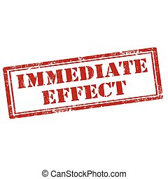 Immediate Effect-stamp - Grunge rubber stamp with text...