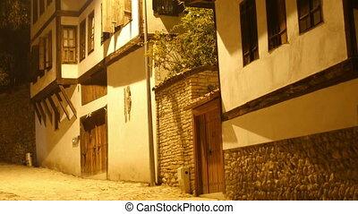 """""""Night View of Traditional Ottoman Anatolian Village,..."""