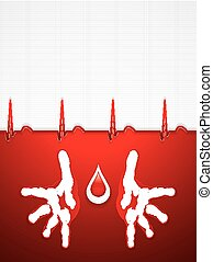 Helping hands - Blood donation vector.Medical background