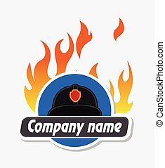 Fire-Brigade Business Banner Illustration