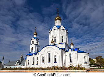 Church Intercession of Holy Virgin. Hlevnoe. Russia - Church...