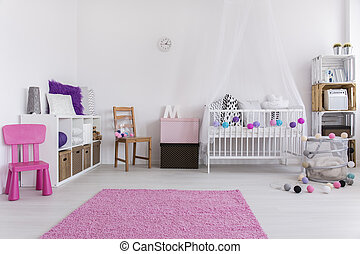 Your little girl will love this design - Shot of a white...
