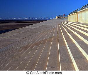Promenade - New promenade at Blackpool,Uk