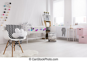Every detail is important - Shot of a modern baby room full...