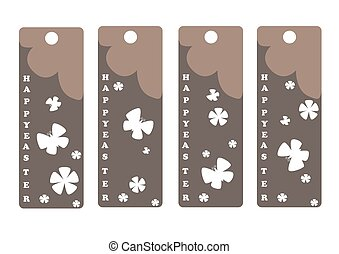 vector set of Easter bookmark. Happy Easter.