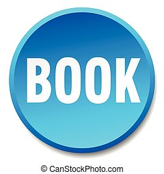 book blue round flat isolated push button