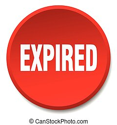 expired red round flat isolated push button