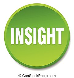 insight green round flat isolated push button