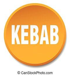 kebab orange round flat isolated push button
