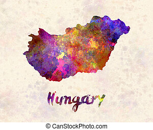 Hungary in watercolor