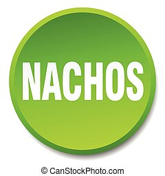 nachos green round flat isolated push button