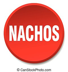 nachos red round flat isolated push button