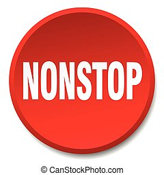 nonstop red round flat isolated push button