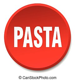 pasta red round flat isolated push button