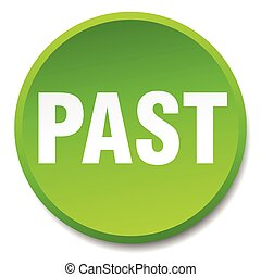 past green round flat isolated push button
