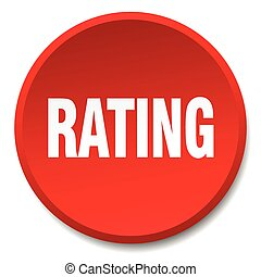 rating red round flat isolated push button