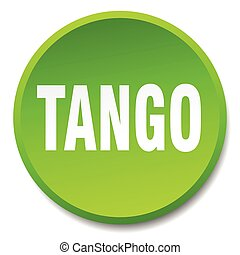 tango green round flat isolated push button