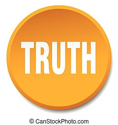 truth orange round flat isolated push button