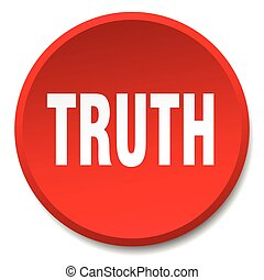 truth red round flat isolated push button